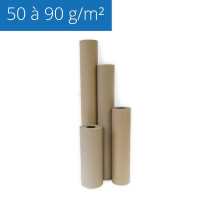 Gamme de rouleaux de papier kraft de calage vendus sur papierkraft.fr