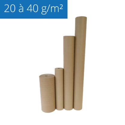 Gamme de papier kraft utilisé pour le calage des objets