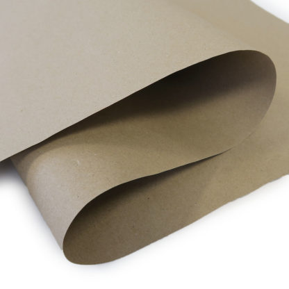 Vue rapprochée d'un papier kraft d'emballage dense