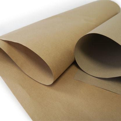 Vue rapprohée du papier kraft de calage